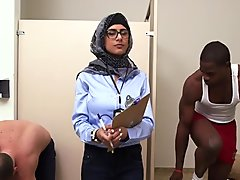 Dude plays with big jugs of an arab bitch whilst she sucks his dick