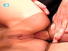 Giant Boobs Blonde Whore Gets Her Ass Ripped Hard